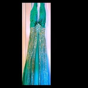 Terani Couture Gown w/shawl